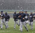 APTOPIX Brewers Reds Baseball Weather