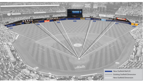 Mets Change Citi Field Walls: Lower, Shorter, Bluer