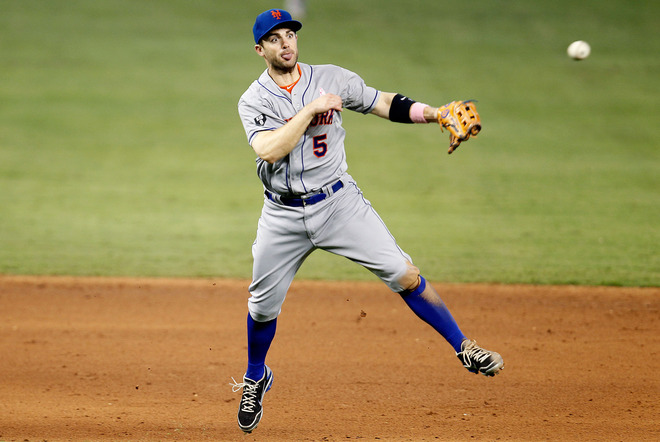 David Wright makes play during Sunday's game against Marlins