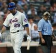 Ike Davis following a strikeout, a familiar site this season