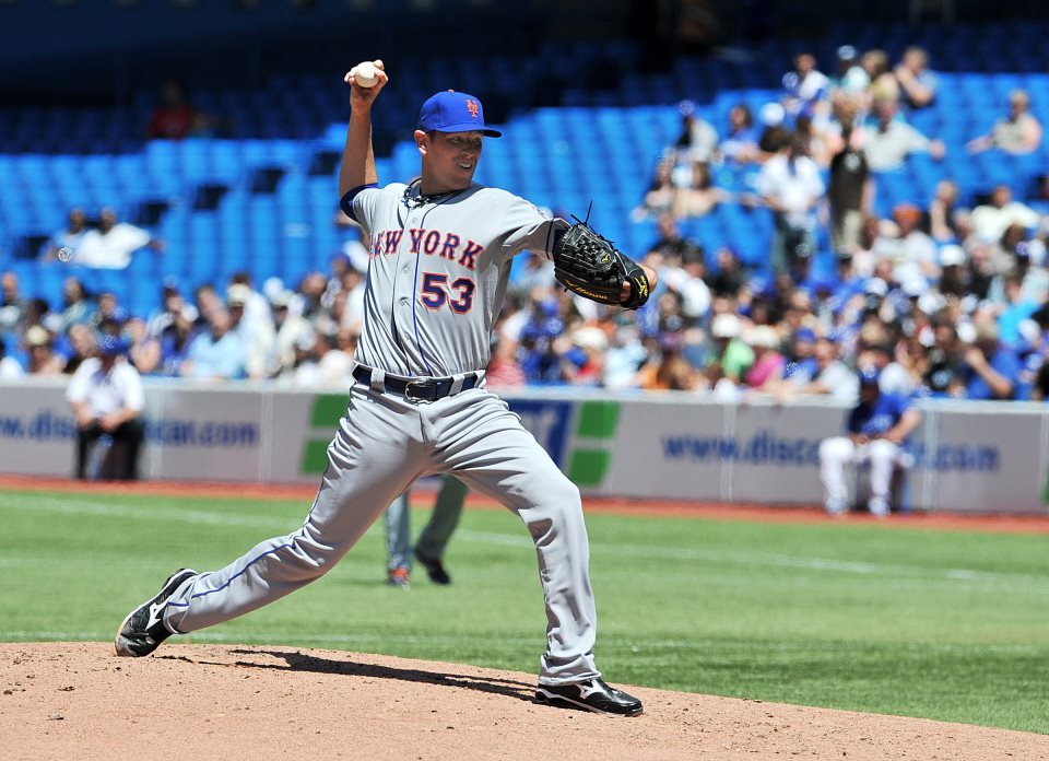 Jeremy Hefner pitched 5 solid innings against Blue Jays