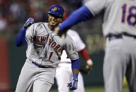 Jordany Valdespin celebrates home run to beat Phillies.