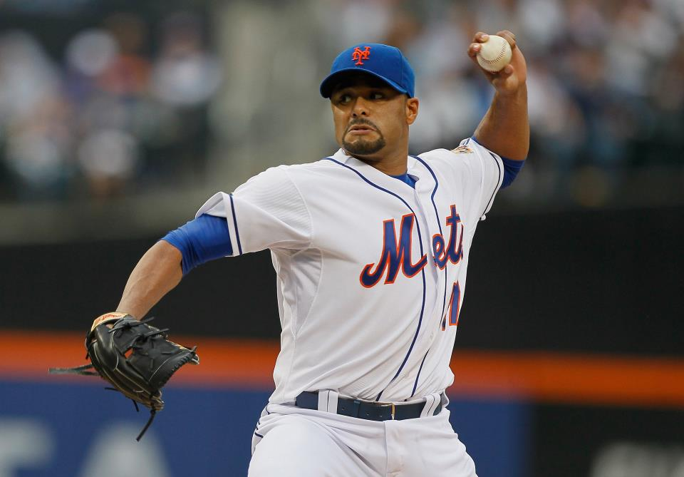Johan Santana throws 6 scoreless innings against Orioles