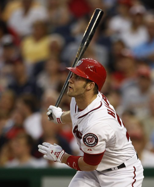 Phenom Bryce Harper singles in 4th against Mets