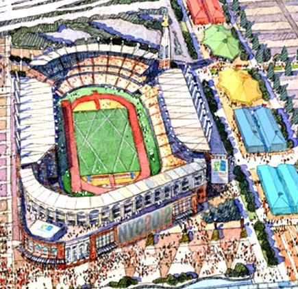 Apparently the only image of what Citi Field would have looked like as Olympic stadium
