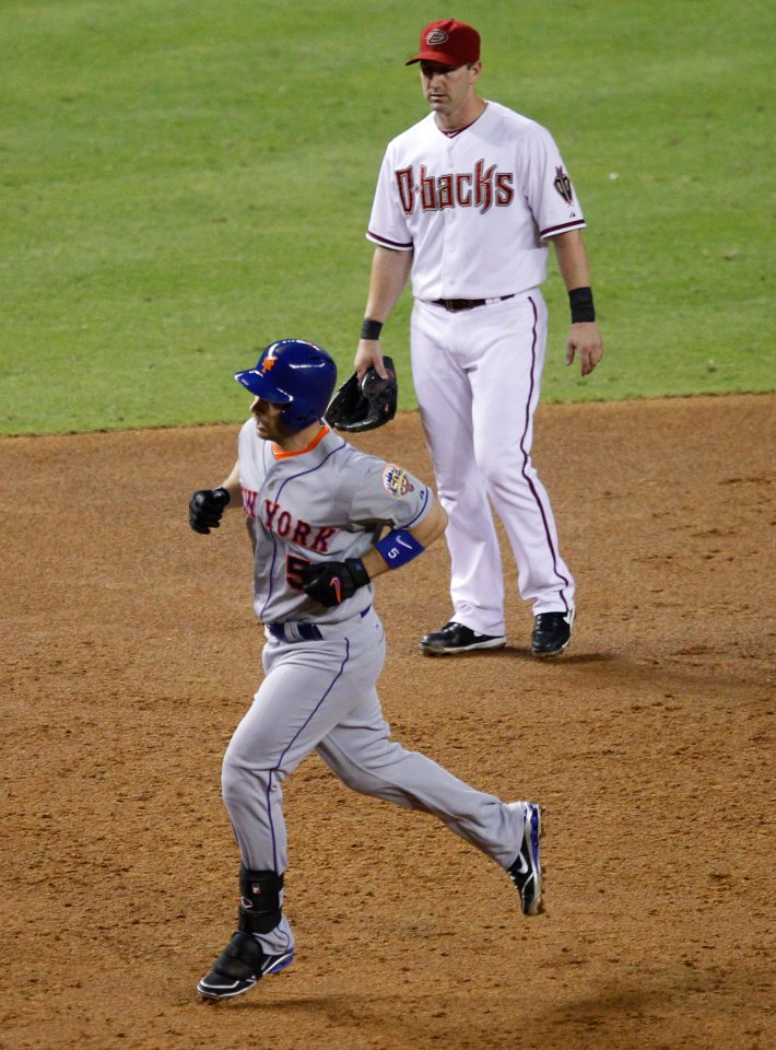David Wright rounds bases after 3rd inning homer