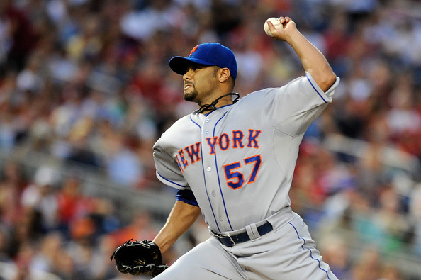 Johan Santana in final start of year in Washington