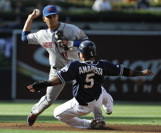 Ruben Tejada turns double play in 1st inning of Mets win against Padres