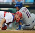 Ruben Tejada scores in 1st inning against Phillies