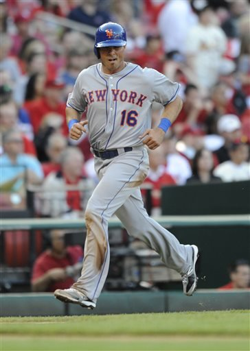 Rick Ankiel went 0-4 in his Mets debut, but scored in the 2nd after walking.