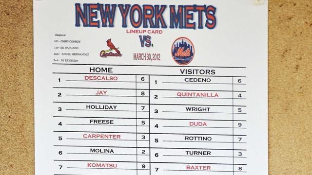 Mets-lineup