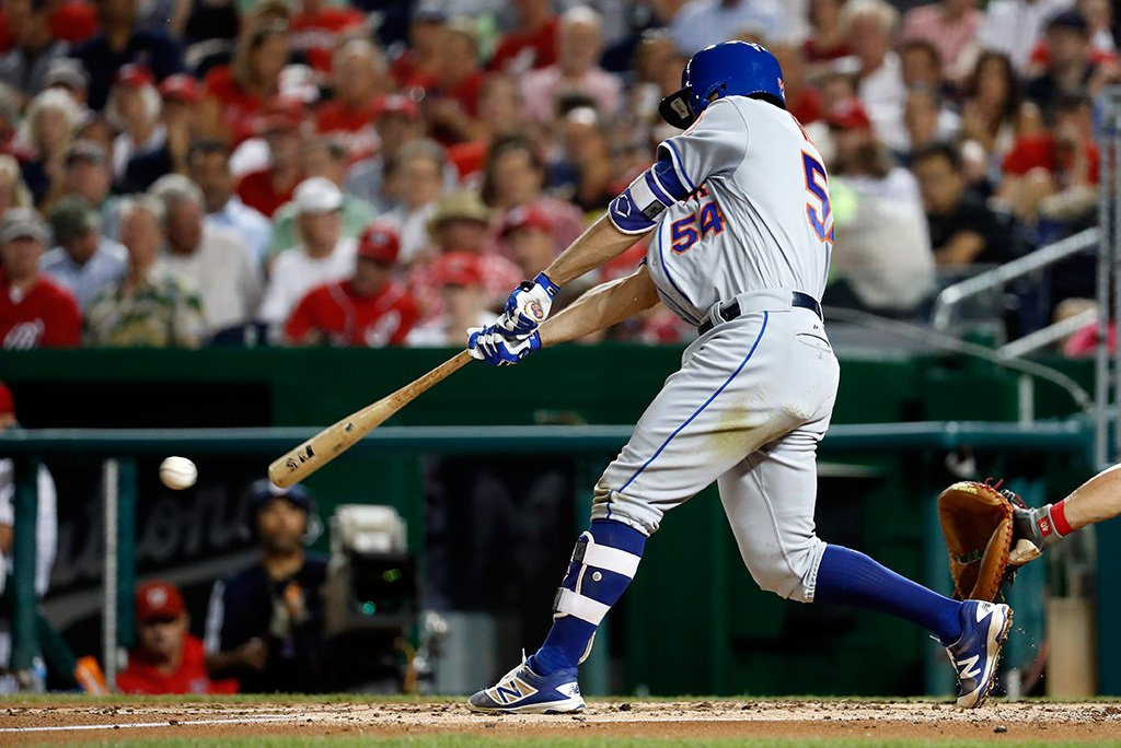 T.J. Rivera homers to give Mets win. (Photo courtesy Twitter/@Mets)